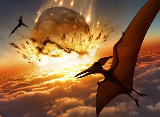Pterosaurs and Meteor